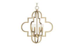 Capital Lighting 4541BG Ellis 4-Light Pendant, Brushed Gold