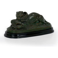"""Consigned """"Tiger Devouring a Gavial"""" Bronze Sculpture after Antoine-Louis Barye"""
