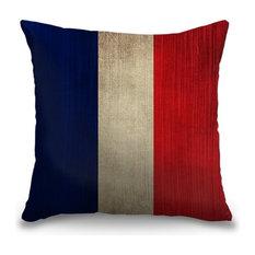 """France Textured Flag"" Pillow 16""x16"""