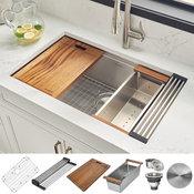 "Ruvati RVH8300 Undermount 16 Gauge 32"" Kitchen Sink Single Bowl"