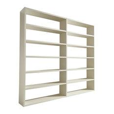 Torero Wide Double Bookcase, White