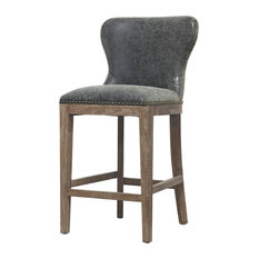Dorsey Counter Stool Nubuck Charcoal