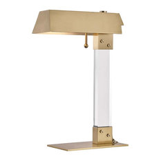 Hunts Point 1-Light Table Lamp, Aged Brass