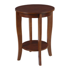 Convenience Concepts   American Heritage Round End Table, Mahogany   Side  Tables And End Tables