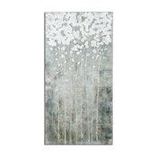 """Uttermost """"Cotton Florals"""" Wall Art, 27.5""""x55"""""""