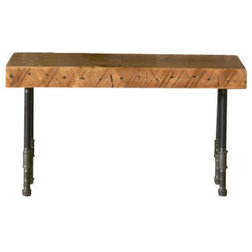 Trend Industrial Accent And Storage Benches Reclaimed Wood Bench Standard