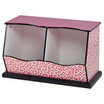 Teamson Kids - Teamson Kids, Fashion Leopard Prints Miranda Cubby Storage, Pink / Black - Running out of room in your drawers to store all of your kids' belongings? Give your kids a special treat with our Fashion Prints leopard cubby. Cubby offers fun and unique design with storage space adequate to store all of their treasured items.
