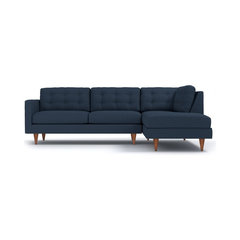 Logan 2 Piece Sectional Sofa, Baltic, Chaise On Left. Tufted Sectional Sofas