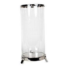 Cylindrical Aluminum Lantern, Nickel
