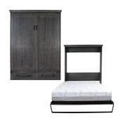 Devonshire Queen Size Murphy Bed, Pearl Gray