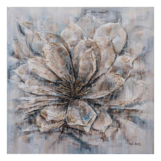 """Magical Blooms"" Hand Paint Canvas Artwork; Fine Art; Modern Art; Floral Artwork"