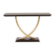 Bergamo Gold Leaf Console Table