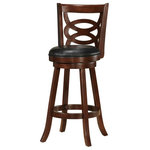 Swivel Wood Dining Chairs 29 Quot H Bar Stool Set Of 2 Espresso