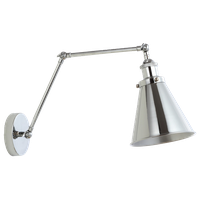 """Rover 7"""" Adjustable Arm Metal Led Wall Sconce, Chrome"""