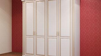 Белый шкаф в классическом стиле