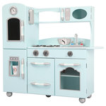 Teamson Kids - Hanover Play Kitchen, Mint - Your little chef will love cooking in the Hanover Play Kitchen. Kids ages 3 and up can pretend using the refrigerator, microwave, stove, oven and sink. The kitchen's durable design and moving parts will keep your child entertained, and the quality construction makes it a favorite for years of play.