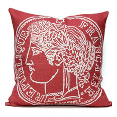 French Coin Pillow, Watermelon