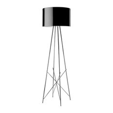 FLOS Official Ray F Black Color Modern Floor Lamps by Rodolfo Dordoni