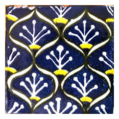 "4""x4"" Mexican Ceramic Handmade Tile #C075"