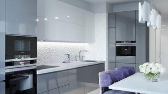 Квартира в современном стиле, ул. Тверитина