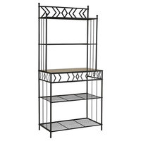Amazing Kitchen Bakers Rack, Black Metal