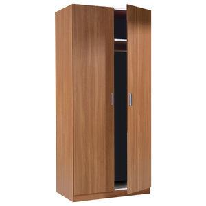Warda 2 Door Wardrobe, Chestnut