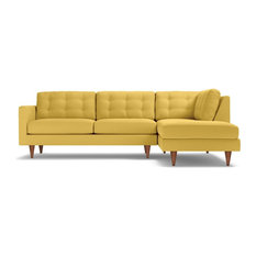 Apt2B - Logan 2-Piece Sectional Sofa Gold Chaise on Left - Sectional  sc 1 st  Houzz : yellow sectional sofa - Sectionals, Sofas & Couches