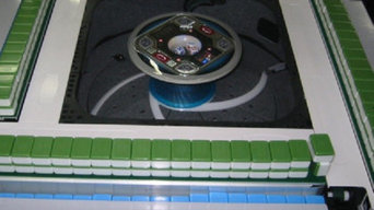 TRADITIONAL AUTOMATIC MAHJONG TABLE WITH CHINESE TILES