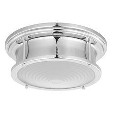 "Fresnel Lens 12.75"" LED Flush Mount, Polished Chrome"