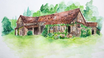 French Cottage Illustration