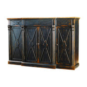 Sanctuary 4-Door 3-Drawer Credenza Ebony and Drift
