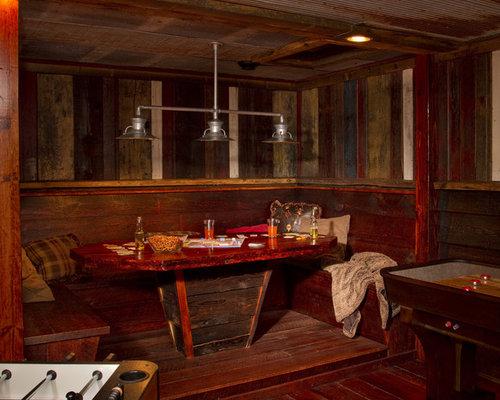 Barn Wood Console Table Basement Design Ideas Renovations