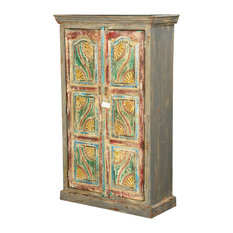 Sierra Living Concepts - Van Gogh Swirls Solid Wood 2 Door Armoire Cabinet - Armoires and Wardrobes
