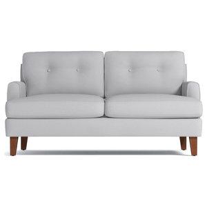 "Virgil Apartment Size Sofa, Stone, 58""x38""x30"""