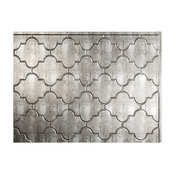 "18""x24"" Fasade Monaco Backsplash Panel, Crosshatch Silver"