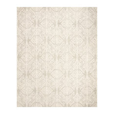 Safavieh Blossom Collection BLM112 Rug, Silver/Ivory, 8'x10'
