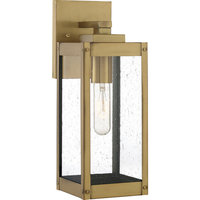 Westover 1 Light Outdoor Lantern, Antique Brass