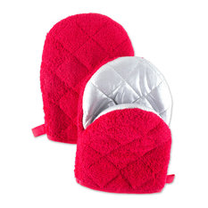 DII Red Short Oven Mitt, Set of 2