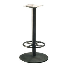 Round Series 22 in. Table Base w 3 in. Column & Footring (Espresso)