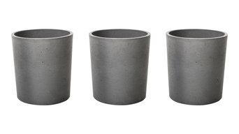 Concrete Spice Pots, Set of 3