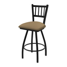 810 Contessa 36-inch Swivel Bar Stool With Black Wrinkle And Canter Sand Seat