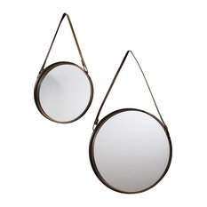 Marston Round Framed Wall Mirrors, 2-Piece Set