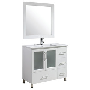"Stanton 40"" Single Sink Vanity Set, White"