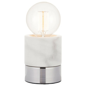 Farrah Touch Table Lamp, Marble