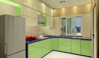 SURAT KITCHEN WITH NEON GREEN ACRYLIC