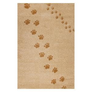 Footprints Children's Rug, Beige, 135x190 cm