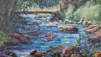 Original Oil Painting by Kimberley Cook - Creek