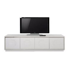 A&X Grand Modern  Crocodile Lacquer TV Stand White