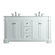 Stufurhome Seine Bathroom Vanity White 60-inch
