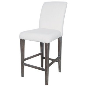 Couture Covers Parsons Bar Stool, Heritage Stain With White Wash